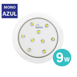 Refletor Super Led Mono Azul 9W 12V 80mm Encaixe Slim Para Piscina