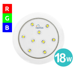 Refletor Super Led Rgb 18W 12V 80mm Encaixe 3/4 Slim Para Piscina