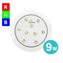 Refletor Super Led Rgb 9W 12V 80mm Encaixe Slim Para Piscina